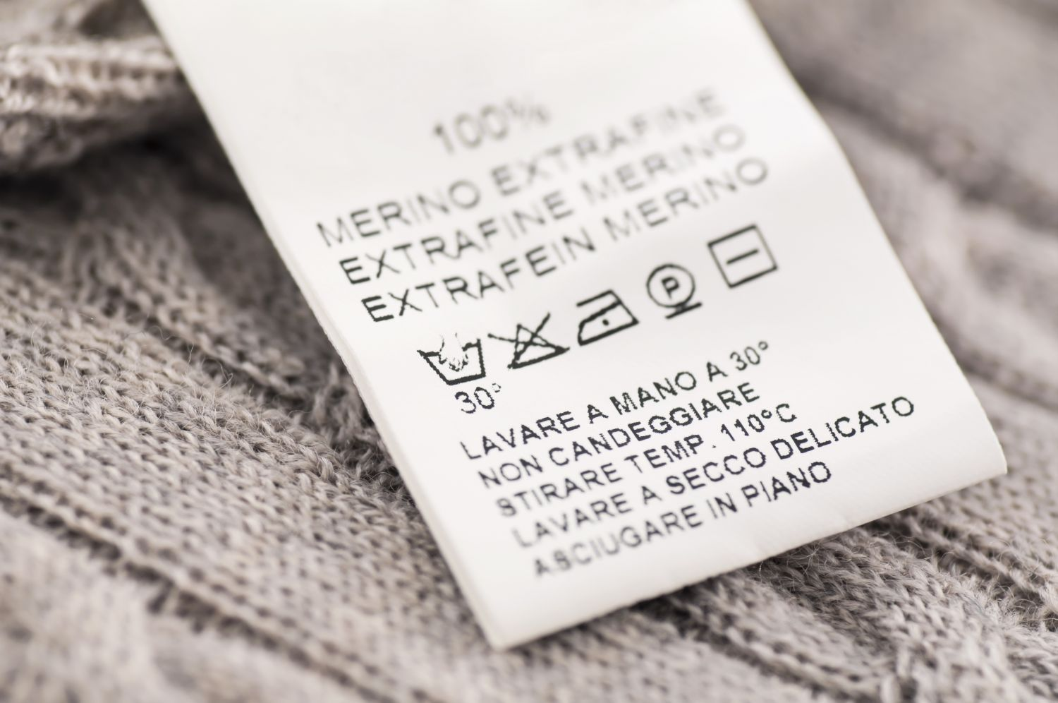 Knowing the garment care symbols is very helpful, specially when the label itself is in a language other than English.
