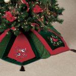 Christmas tree skirt on carpet