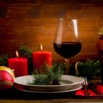 Red wine & holiday candles